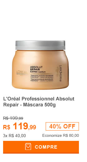 LOréal Professionnel Absolut Repair Cortex Lipidium Instant Reconstructing Masque - Máscara 500g